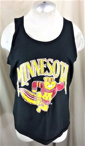 """Vintage 90's Minnesota Gophers """"Goldie"""" (Large) Retro NCAA Pullover Graphic Tank Top T-Shirt"""