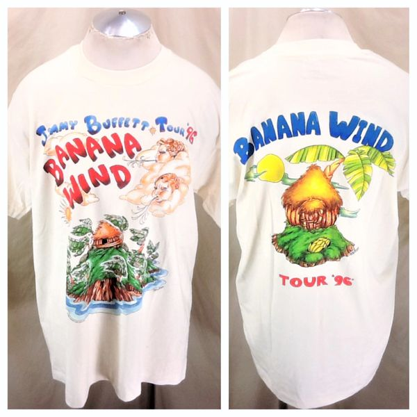 "Vintage 1996 Jimmy Buffet ""Banana Wind Tour"" (XL) Retro Graphic Band Concert T-Shirt"