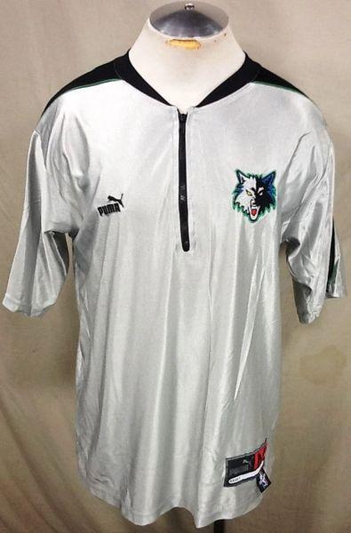 sale retailer 9c510 5adb3 Vintage Puma Minnesota Timberwolves (Med-Long) Retro Wolves NBA Basketball  Shooting Shirt