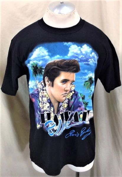 "Vintage 1995 Elvis Presley ""Blue Hawaii"" (Large) Retro Country Music Icon Graphic T-Shirt"