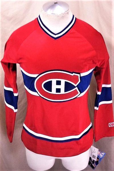 New! CCM Montreal Canadiens Hockey (Small) Retro NHL Women's Hockey Jersey Red