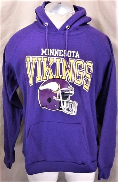 100% authentic d4427 a61a5 Vintage 90's Champion Minnesota Vikings (Large) NFL Football Pullover  Hooded Sweatshirt