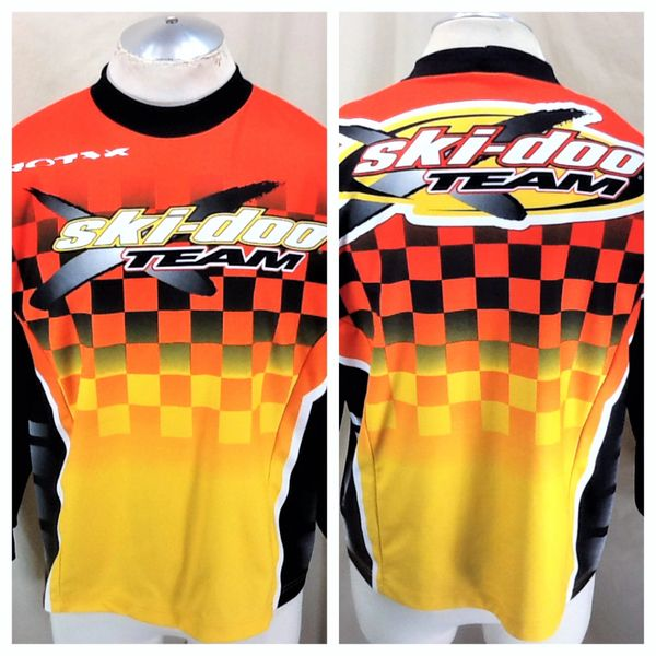 Vintage Ski-Doo Racing Bombardier (Sm/Med) Retro Sno Gear Long Sleeve Graphic Jersey