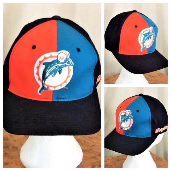 Vintage 90's Starter Miami Dolphins Retro NFL Football Graphic Snap Back Hat