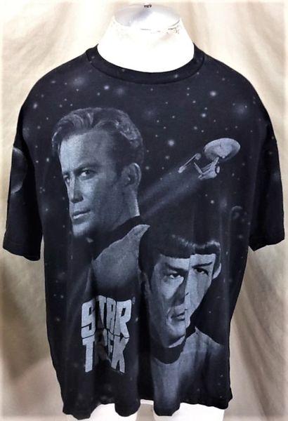 Vintage 1994 Star Trek Tv Show Spak (XL/2XL) Retro Sci-Fi Graphic Black T-Shirt