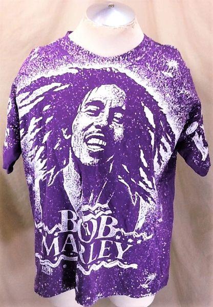 """Bob Marley Psychadelic """"Paint Splatter"""" Style (XL) Retro Rasta Graphic T-Shirt"""
