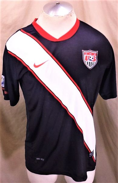 Authentic Nike Team USA Futbol Club (L/XL) Retro World Cup Dri-Fit Soccer Jersey Blue