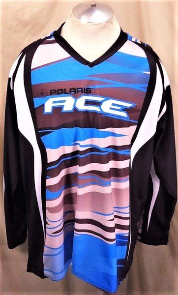Pure Polaris ACE Super Sportsman ATV Racing (XL) Geometric Design Retro Graphic Jersey