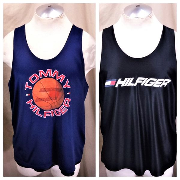Vintage 90's Tommy Hilfiger Classic (Large) Reversible Graphic Basketball Jersey