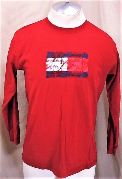 """Vintage 90's Tommy Hilfiger """"Tommy Jeans"""" (Med) Retro Classic Logo Long Sleeve T-Shirt"""