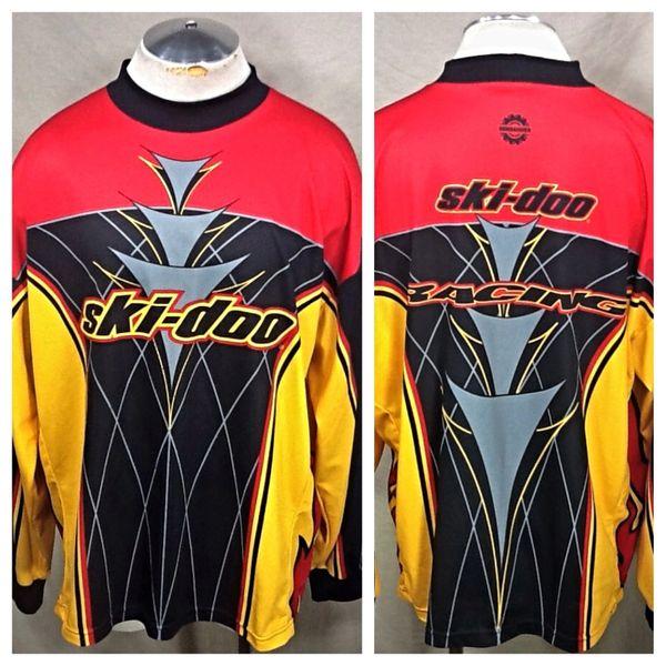 Vintage Ski-Doo Sno Gear Racing Team (3XL) Retro Dri-Fit Long Sleeve Graphic Jersey