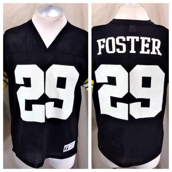 Vintage 90's Logo 7 Pittsburgh Steelers Barry Foster #29 (Med) Retro NFL Football Graphic Jersey
