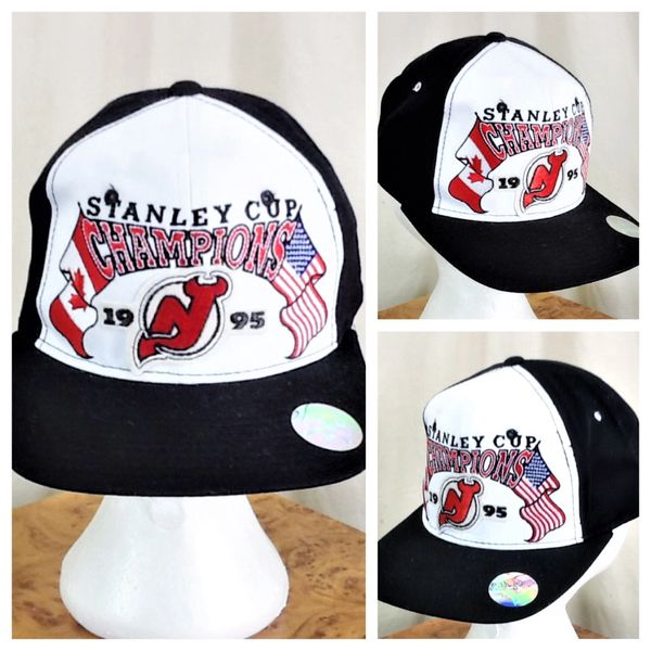 Vintage 1995 Starter New Jersery Devils NHL Hockey Stanley Cup Champions Graphic Snap Back Hat