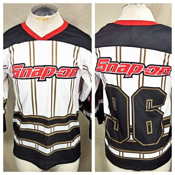 Vintage Swingster Snap-On Tools Racing (Smalls) Retro Pullover Graphic Hockey Style Jersey