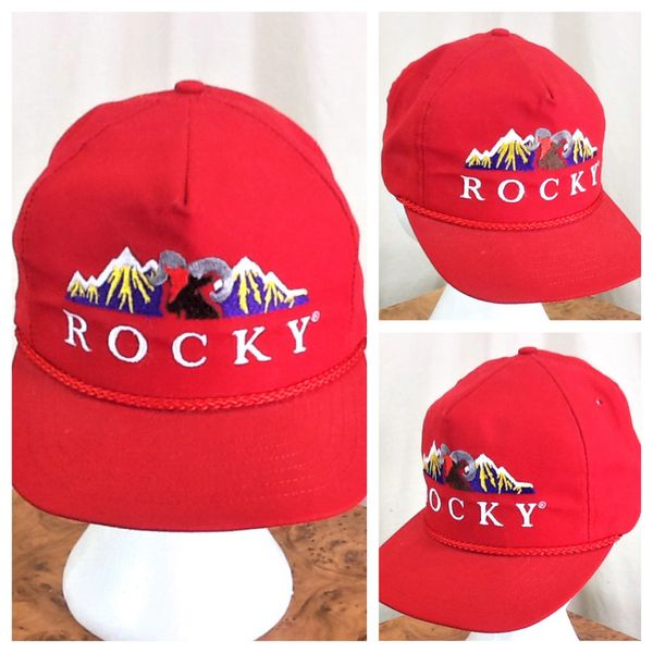 "Vintage 90's Rocky Mountains ""Wildlife"" Retro Tourism Embroidered Snap Back Hat"