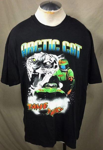 "Vintage Arctic Cat Snowmobiles ""Tame This"" (2XL) Retro Arctic Wear Graphic T-Shirt"