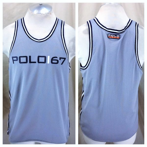 """Vintage Polo Sport Ralph Lauren """"Polo Sport"""" (Large) Mesh Graphic Basketball Jersey"""
