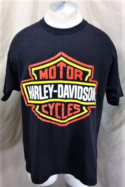 Vintage 1992 Holoubek Harley Davidson Motorcycles (XL) Graphic Gear Heads Shirt