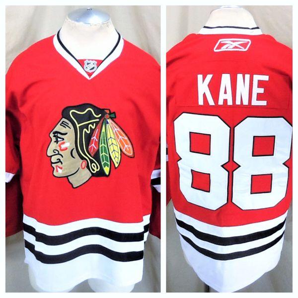 Reebok Chicago Blackhawks Patrick Kane #88 (48/Large) Retro Stitched Red Hockey Jersey