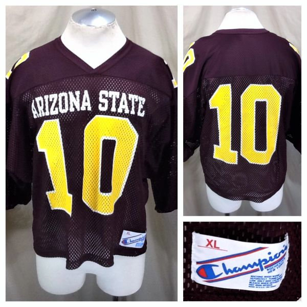 Vintage 90's Champion Arizona State Sun Devils (XL) Retro NCAA Graphic Football Jersey