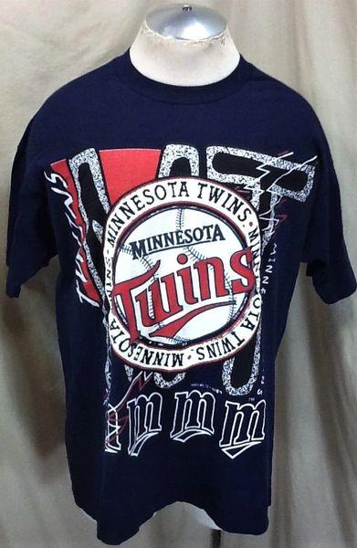 Vintage 90's Minnesota Twins Baseball Club (XL) Retro MLB Classic Logo Graphic T-Shirt