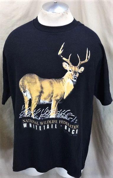 Vintage 1990 National Wildlife Federation (XL) Whitetail Buck Conservat T-Shirt