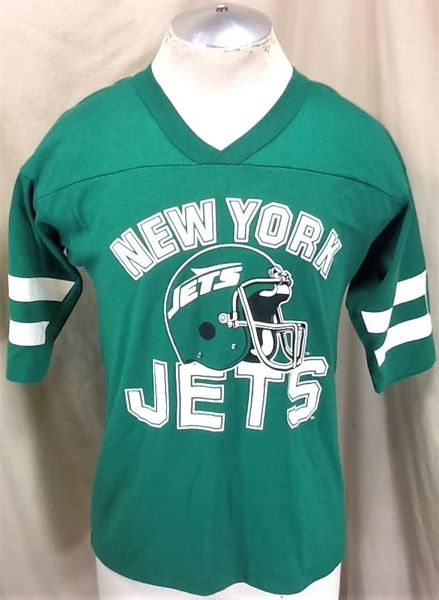 Vintage 90's New York Jets Football (Med) Retro NFL Classic Logo Graphic Green T-Shirt