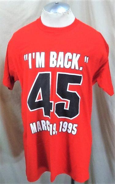 Vintage 1995 Chicago Bulls Michael Jordan #45 (XL) Retro NBA Basketball Graphic T-Shirt