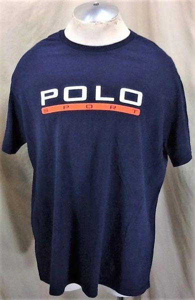 """Vintage Polo Sport Ralph Lauren (Large) Retro """"Polo Sport"""" Graphic T-Shirt Blue"""