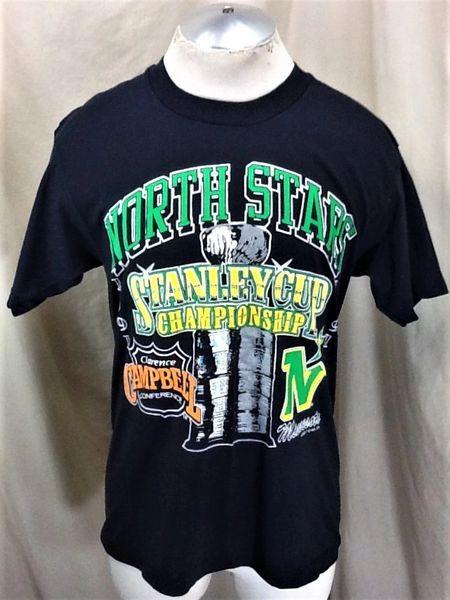 "Vintage 1991 Minnesota North Stars (Large) ""Stanley Cup"" Retro NHL Graphic T-Shirt"