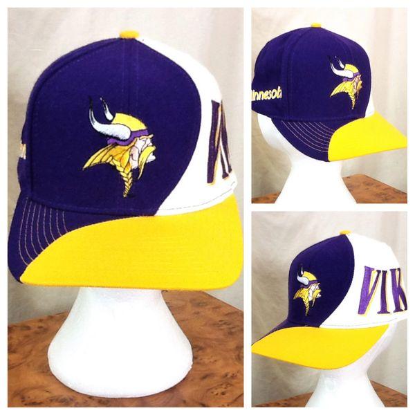 Vintage 90's Team NFL Minnesota Vikings Retro NFL Football Embroidered Snap Back Hat