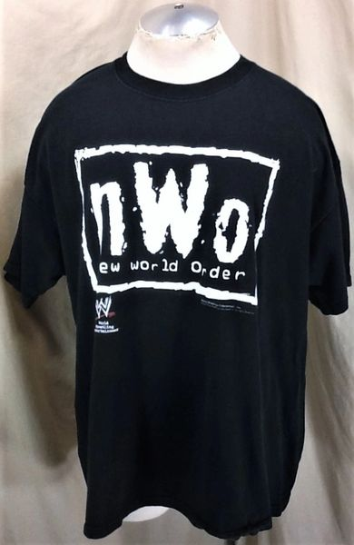 "Vintage 2002 New World Order ""NWO"" (2XL) Retro WWF Wrestling Graphic Black T-Shirt"