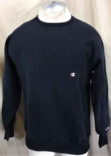 Vintage 90's Champion Reverse Weave (L/XL) Retro Knit Athletic Wear Crew Neck Sweatshirt