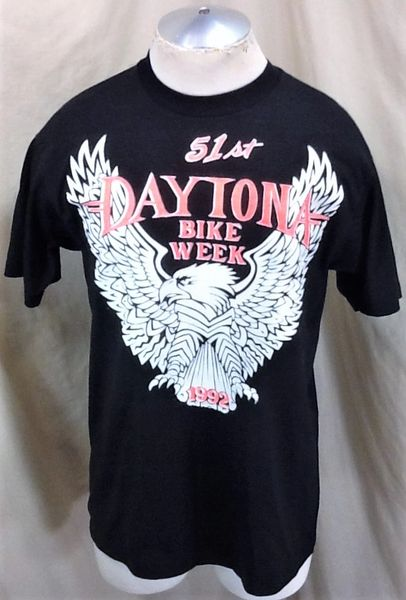 Vintage 1992 51st Daytona Bike Week (Med/Large) Retro Motorcycling Festival Graphic T-Shirt