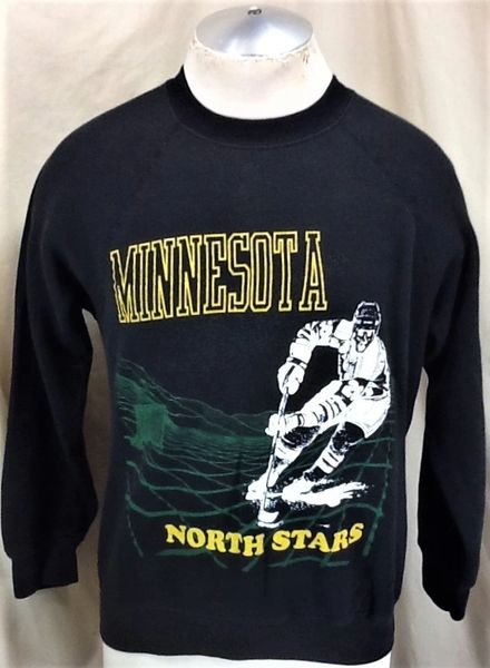 Vintage 90's Minnesota North Stars (Med) Retro NHL Hockey Graphic Crew Neck Sweatshirt