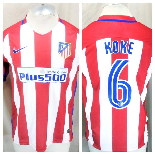 Nike Aero Swift Athletico Madrid Koke #6 (Med) Retro La Liga Dri-Fit Graphic Futbol Jersey