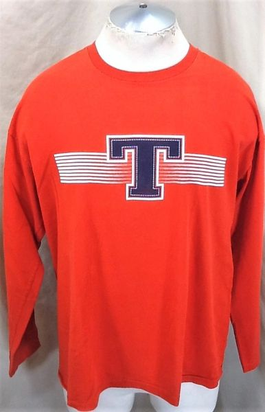 """Vintage 90's Tommy Hilfiger """"Tommy Jeans"""" (Large) Retro Classic """"Big T"""" Graphic Shirt"""