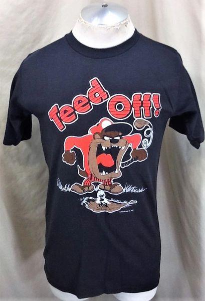 "Vintage 1988 Looney Tunes Taz ""Teed Off"" (Medium) Retro Classic Cartoon Graphic T-Shirt"