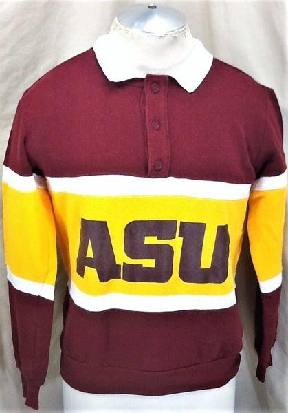 Vintage 1987 Arizona State Sun Devils (Med) Retro NCAA Rose Bowl Graphic Sweatshirt