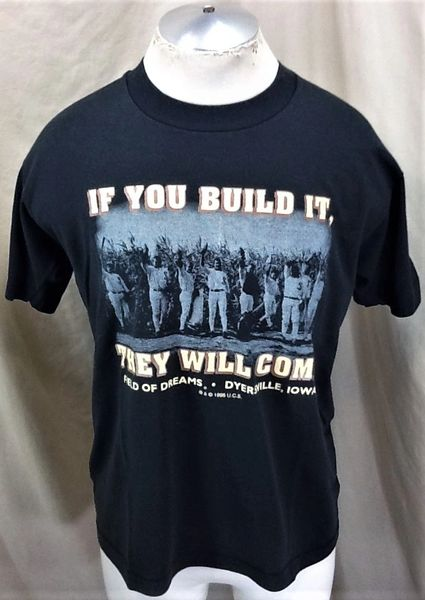 "Vintage 1996 Field of Dreams ""If You Build It"" (Large) Retro Iconic Baseball Movie Graphic T-Shirt"