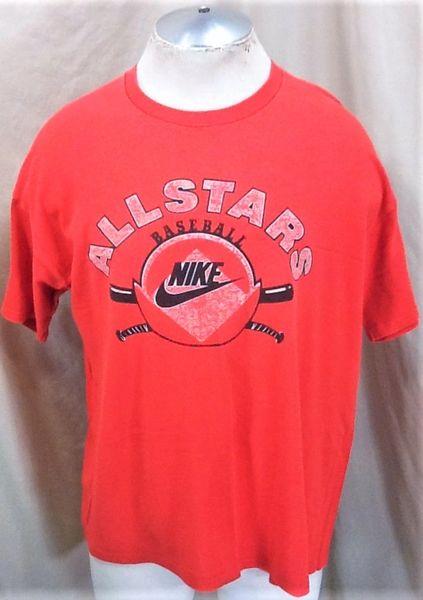 """Vintage 90's Nike Baseball """"All Stars"""" (XL) Retro MLB Graphic Athletic Training T-Shirt"""