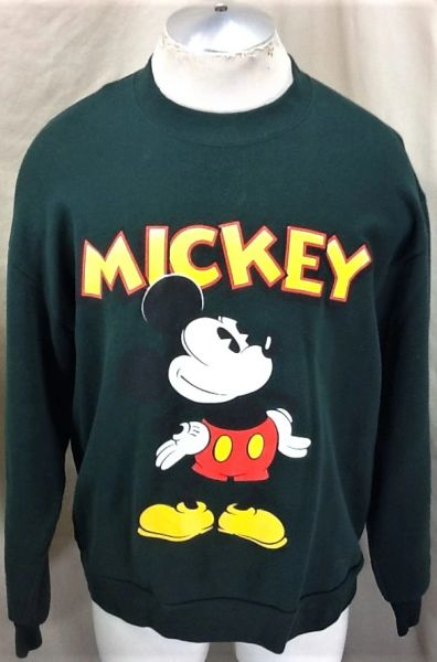 Vintage 90's Disney's Mickey Mouse (Large) Retro Cartoon Graphic Crew Neck Sweatshirt