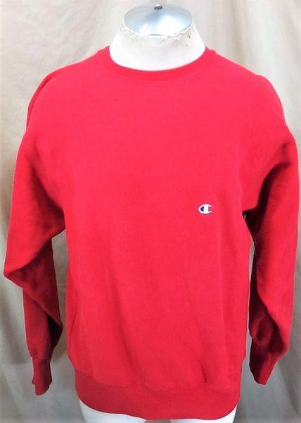 Vintage 90's Champion Reverse Weave (XL) Retro Classic Knit Crew Neck Red Sweatshirt