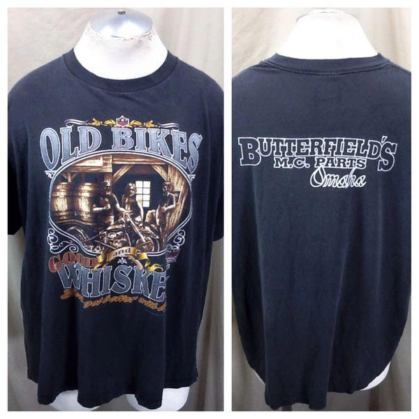 """Vintage 1993 3D Emblem """"American Biker"""" (2XL) Retro Graphic Motorcyle Shirt"""