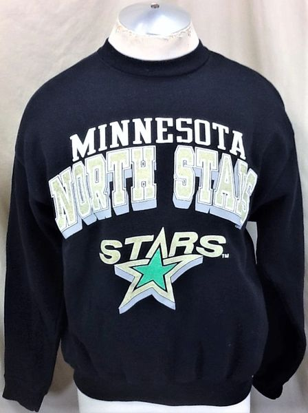 Vintage 1991 Logo 7 Minnesota North Stars (Large) Retro NHL Hockey Crew Neck Graphic Sweatshirt