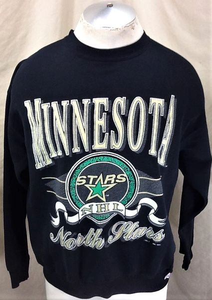 Vintage 1992 Logo 7 Minnesota North Stars (Large) Retro NHL Hockey Crew Neck Graphic Sweatshirt