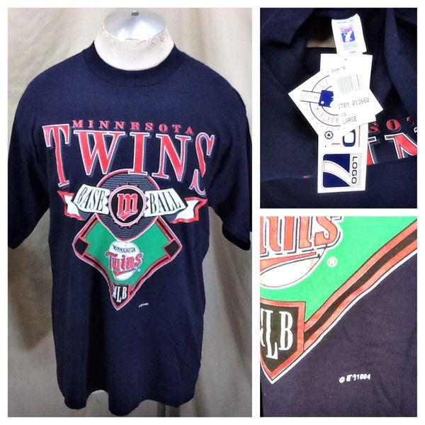 New!! Vintage 1994 Minnesota Twins Baseball Club (Large) Retro MLB Iconic Logo Graphic T-Shirt