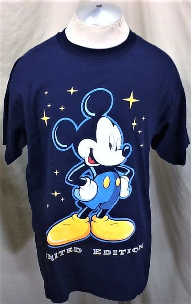 "Vintage 90's Disney's Mickey Mouse (Large) Retro ""Limited Edition"" Graphic Cartoon T-Shirt"