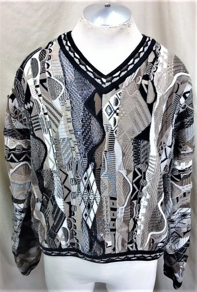 Vintage 90's Tundra 3D Mercanized Textured (Large) Retro Cosby Style Sweater