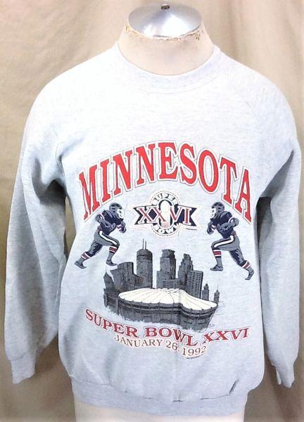 Vintage 1992 Buffalo Bills Vs Washington Redskins (XL) Retro NFL Football Super Bowl Graphic Sweatshirt